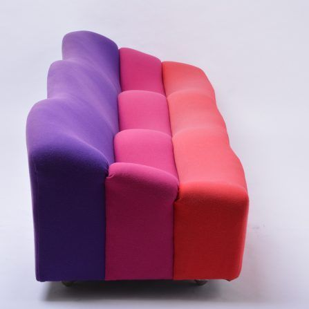 """Three-Seat-""""ABCD""""-Sofa-by-Pierre-Paulin-for-Artifort-,-1968"""