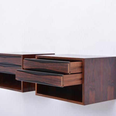 Pair of Danish-Mid-Century-Rosewood-wall-mounted-night-tables