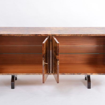Sideboard-in-lacquered-goat-skin-by-Aldo-Tura-,-Italy-,-1970s