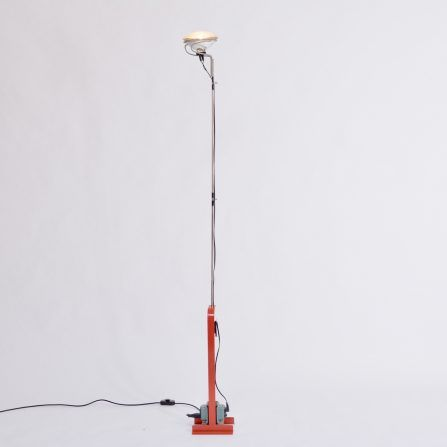 Red-Toio-floor-lamp-by-Achille-and-Pier-Giacomo-Castiglioni-for-Flos-,-1962