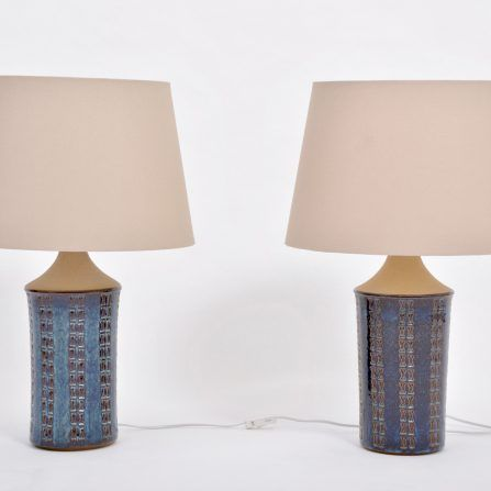 Pair-of-tall-blue-Mid-Century-Modern-table-lamps-by-Maria-Philippi-for-Soholm