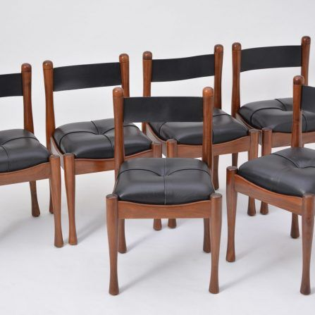 Set-of-six-Italian-dining-chairs-by-Silvio-Coppola-for-Bernini
