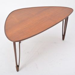 Danish Mid-Century Modern Teak tripod coffee table from BC Mobler