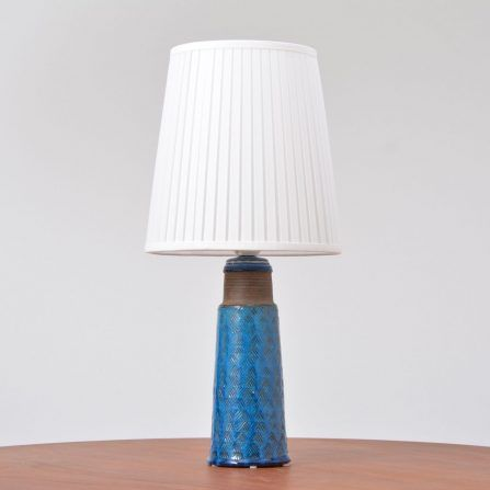 Danish-stoneware-table-lamp-with-turquoise-glazing-by-Nils-Kähler