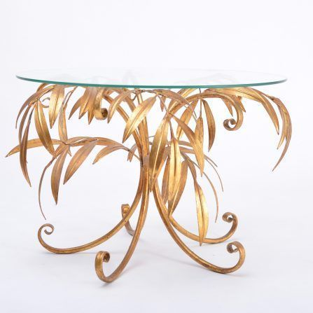 Mid-Century-Golden-Palm-Tree-Side-Table-by-Hans-Kögl-1960s