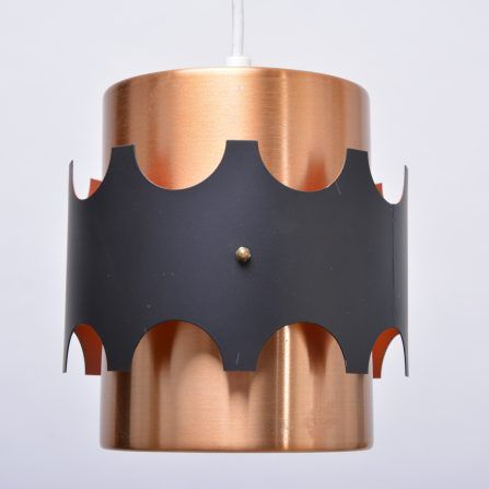 Pair-of-Mid-Century-copper-colored-pendant-lights