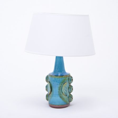 Pair-of-blue-vintage-stoneware-table-lamps-model-1203-by-Søholm