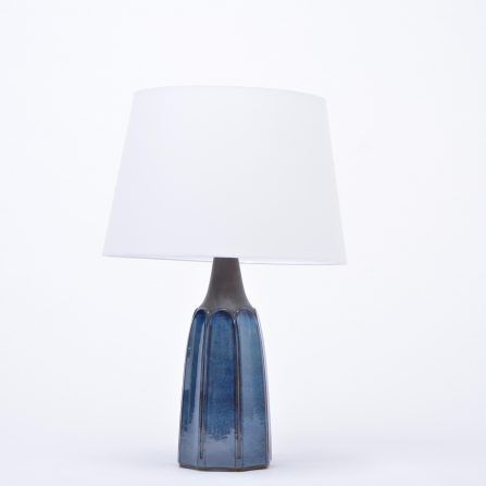 Tall-blue-Mid-Century-modern-stoneware-table-lamp-model-1042-by-Einar-Johansen-for-Søholm