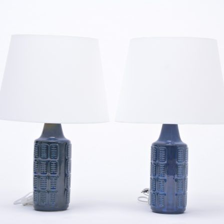 Pair-of-blue-vintage-stoneware-table-lamps-model-1018-by-Einar-Johansen-for-Søholm