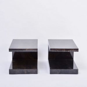 Pair-of-lacquered-goat-skin-side-tables-by-Aldo-Tura