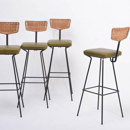 Set-of-four-Mid-Century-Modern-wicker-bar-stools-by-Herta-Maria-Witzemann-for-Erwin-Behr
