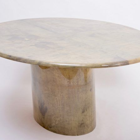 Aldo-Tura-oval-dining-table-in-lacquered-Goatskin-,-Italy