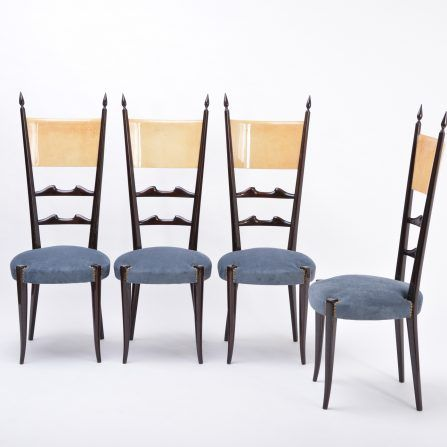 Set-of-four-Aldo-Tura-high-back-dining-chairs