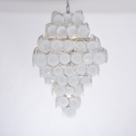 Huge Glass disc chandelier in the style of Gino Vistosi